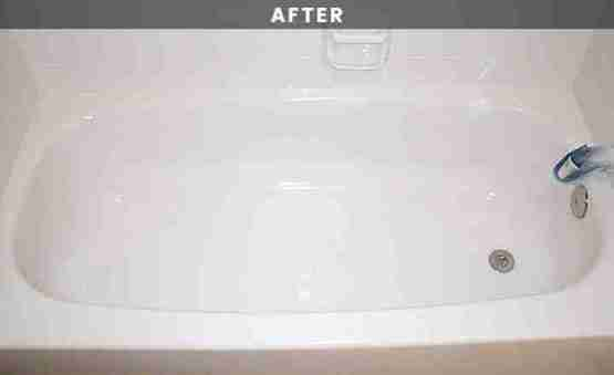 Cream bathtub reglazing