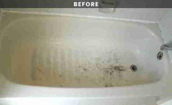 Cream bathtub reglazing
